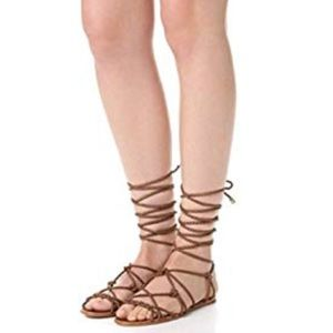 Schutz laced up gladiator flats sandals